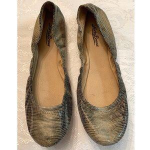 Lucky Brand | Emmie Ballerina Snakeskin Flats